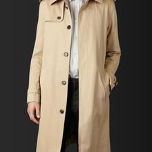 S-5XL Горячая весна/осень мужской индивидуальный заказ мода Slim-fit однобортный повседневное длинное пальто