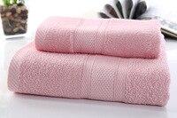 DeMissir Luxury Soft Bamboo Charcoal Fiber 2pcs Set Bath Towel Face Towel Adult serviette de plage towels toallas toalla