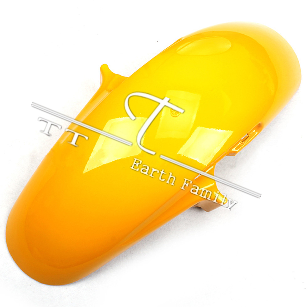 Motorcycle Parts for Honda VTEC400 I II III 1999-2007 Front Fender Mudguard Yellow for honda cb400 nc23e vtec i ii iii silicone radiator hose kit1998 2007 blue 5pieces colors red blue black