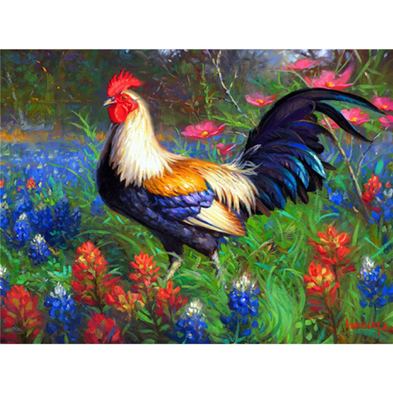 5D Diamond Embroidery Paintings Rhinestone Pasted diy Diamond painting Cross Stitch Kits <font><b>Rooster</b></font> diamond mosaic Room <font><b>Decor</b></font>