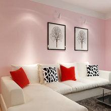 PAYSOTA Pink Wallpaper Romantic Bedroom Living Room Pure Color Children Wall Paper Roll