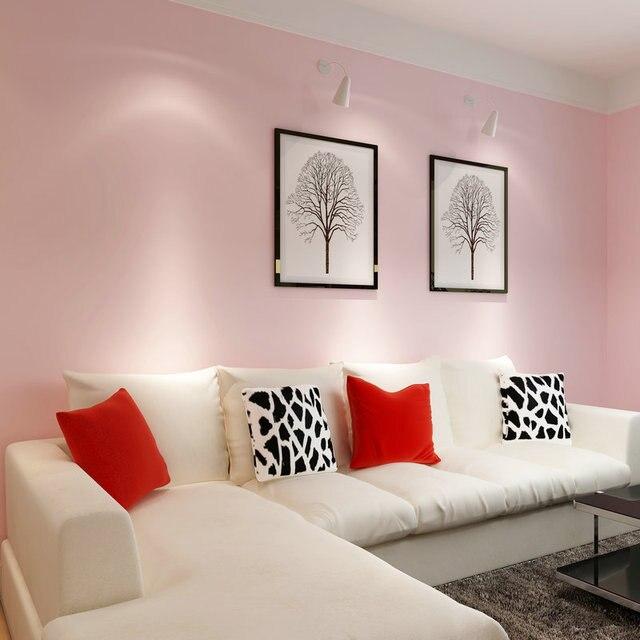 Paysota Rose Papier Peint Romantique Chambre Salon Pur Couleur