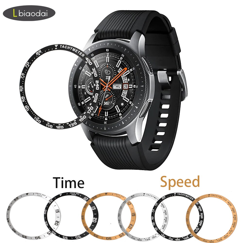Metal case For Samsung Galaxy Watch 46mm 42mm/Gear S3 Frontier/Classic sport Ring Adhesive Cover Anti watch accessories