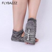 Women Toe Yoga Socks Backless Quick-Dry Anti-slip For Cotton Pilates Ballet Good Grip Exercise Massage