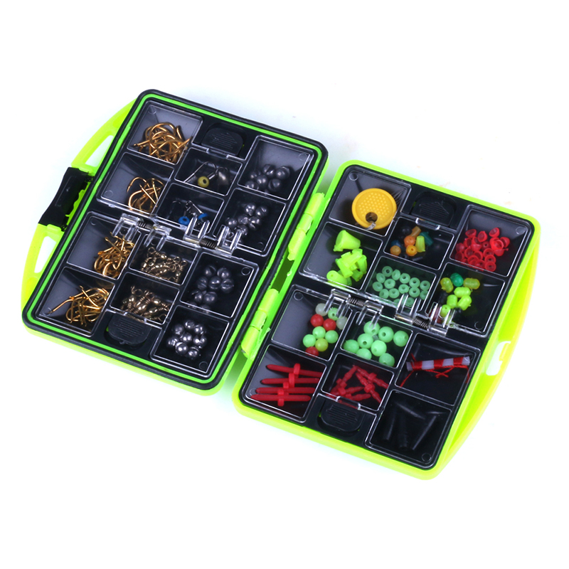 Fishing Tackle Box 24 Compartments Storage Box Full Loaded Hook Spoon Lure Sinker Water-resistant Durable