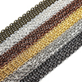 10m/lot Rhodium/Silver/Gold/Gunmetal/Antique Bronze Color Necklace Chains Brass Bulk for DIY Jewelry Making Materials F712