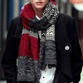 Free shipping, 2016 men Winter fashion new twist scarf Spell color warm wool scarf  001#