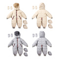 2016 Winter 0~24M Baby Snowsuit Outwear Coats Baby Boys Girls Rompers Hooded Snow Wear Clothes Newborn Clothing Sets V49