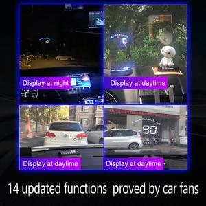 Image 5 - Geyiren 3.5 Schermo HUD Auto OBD II HUD Head Up Display M6 Auto Display della Temperatura Dellacqua Auto di Tensione Elettronico allarme DC12V Hud