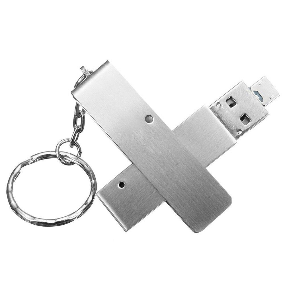 OTG USB Flash Drive 2in1 Waterproof Shockproof UDP Chip Metal Dual Micro Thumb Drive Memory Stick