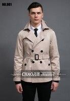 S-5XL! 짧은 디자인 남성 트렌치 코트 남성 패션 간단한 더블 브레스트 슬림 코트 착실히 보내다 무료 shippig