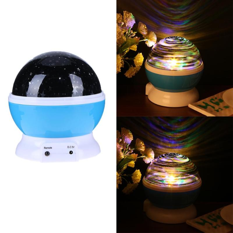 New universe Star Moon Sky Dream Rotating Projector Lamp Night Light Romantic Projector Light Baby Bedroom Decor Children Kid