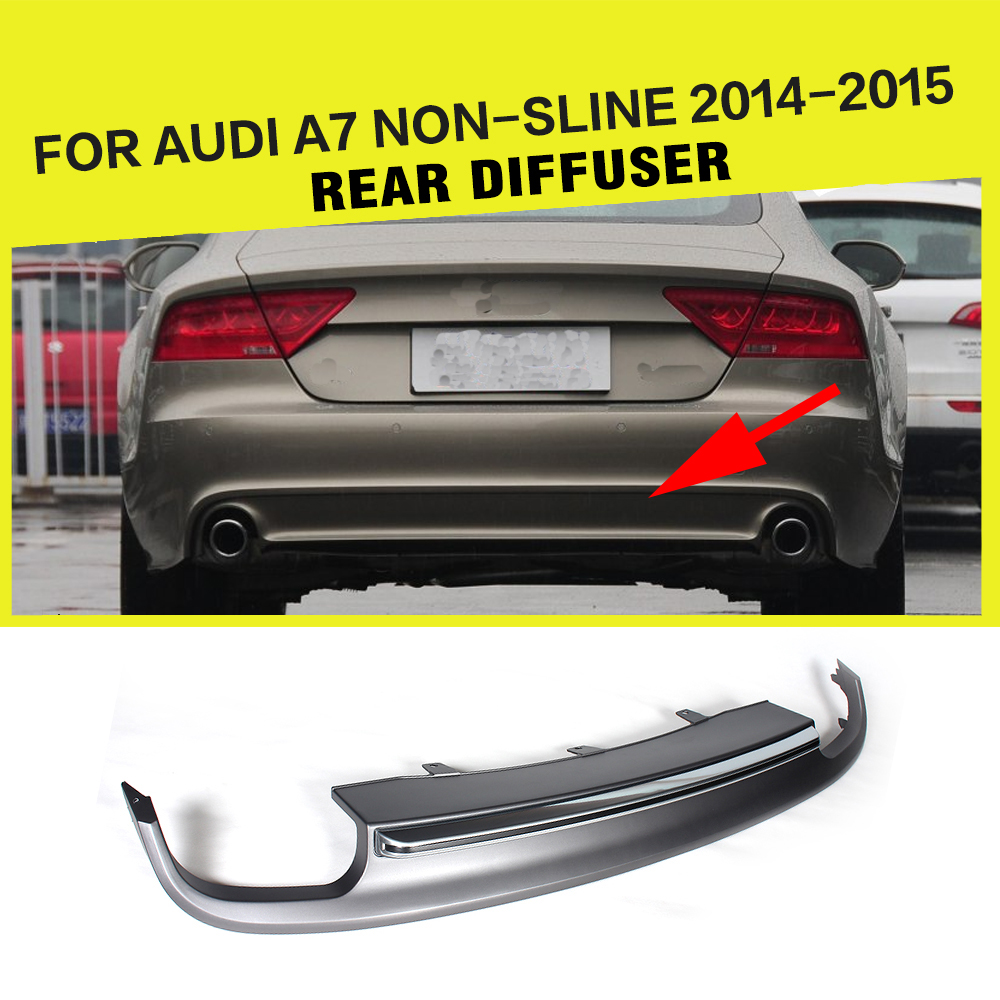 PP <font><b>Rear</b></font> Bumper Lip Auto Car <font><b>Rear</b></font> Bumper <font><b>Diffuser</b></font> Spoiler Lip for <font><b>Audi</b></font> <font><b>A7</b></font> Standard Bumper 2011 - 2014 image