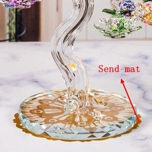 Image 3 - Glas Kristal Lotus Boom met 12pcs Lotus Fengshui Ambachten Home Decor Beeldjes Kerst Nieuwe Jaar Geschenken Souvenirs Decor Ornament