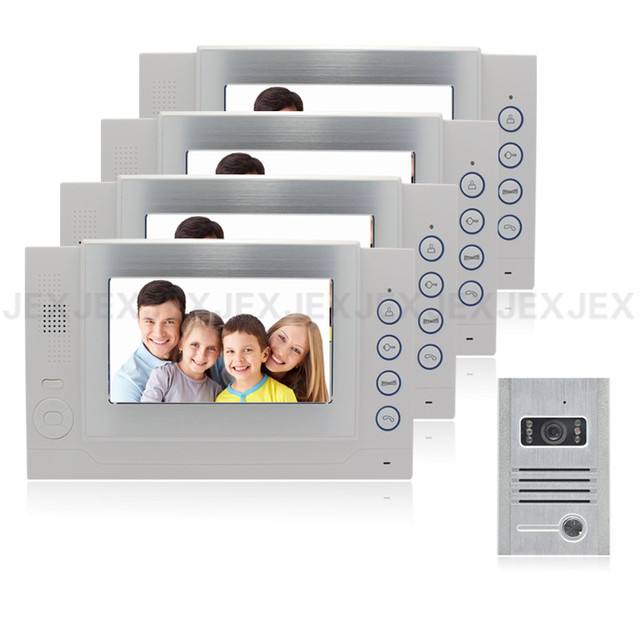 7`` video door phone intercom system home security system video recording doorphone doorbell
