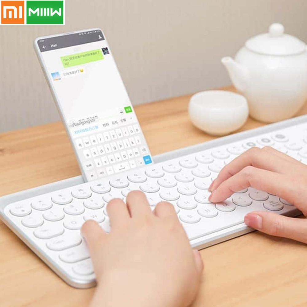 Original Xiaomi Miiiw Bluetooth Dual Mode Keyboard MWBK01 104 Keys 2.4GHz Multi System Compatible Wireless Portable Keyboard 5.0