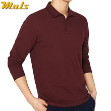 8Color Muls Brand 100% Cotton Polo Men 2018 Spring New Long Sleeve Autumn Casual Mens Polos Red Blue Green Black Navy Gray White(China)