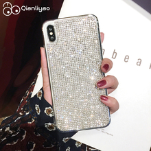 Qianliyao Rhinestone Luxury Bling Phone Case For iphone 6 6S 7 8 Plus X XS Max XR 11 Pro Cases Soft TPU Back Cover Coque