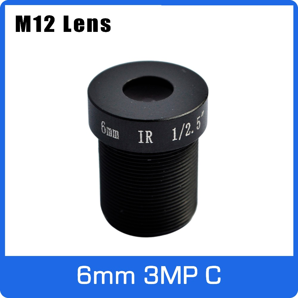 3Megapixel M12 Fixed 1/2.5 inch 6mm CCTV Lens For HD 1080P CCTV Camera Free Shipping witrue 1 3megapixel 25mm cctv lens m12 mount aperture f2 0 for security cctv camera
