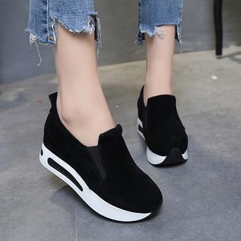 women flats fashion platform loafers women shoes tenis feminino flock shoes for women spring autumn slip on casual shoes women