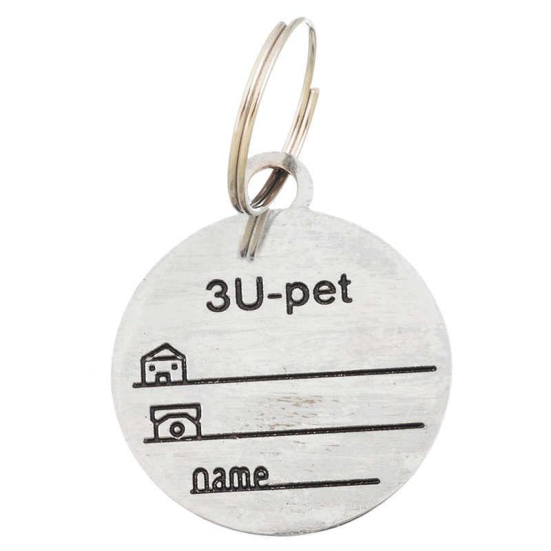 Hoomall Đẹp Thú Cưng Mặt Dây Chuyền Trang Trí Thẻ Chống Mất Cho Thú Cưng Chó Mèo Tên Địa Chỉ Nhãn Thẻ Thú Cưng CHỨNG MINH THƯ Chó cổ áo