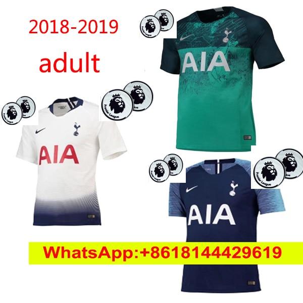 Aliexpress.com   Buy Thai quality 2018 2019 Tottenhames KANE Soccer Jerseys  Home away third white LAMELA ERIKSEN DELE SON Away blue Football shirt from  ... 570f294da