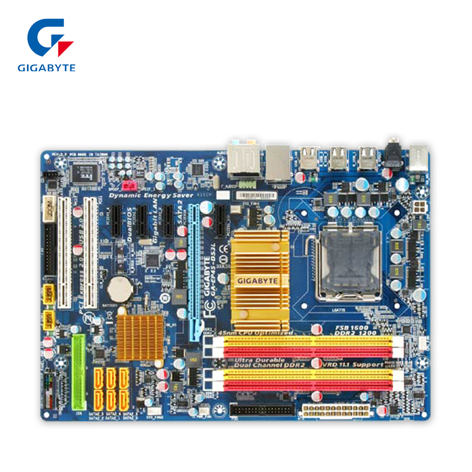 Gigabyte GA-EP45-DS3L Desktop Motherboard EP45-DS3L P45 LGA 775 DDR2 16G SATA2 USB2.0 ATX стоимость
