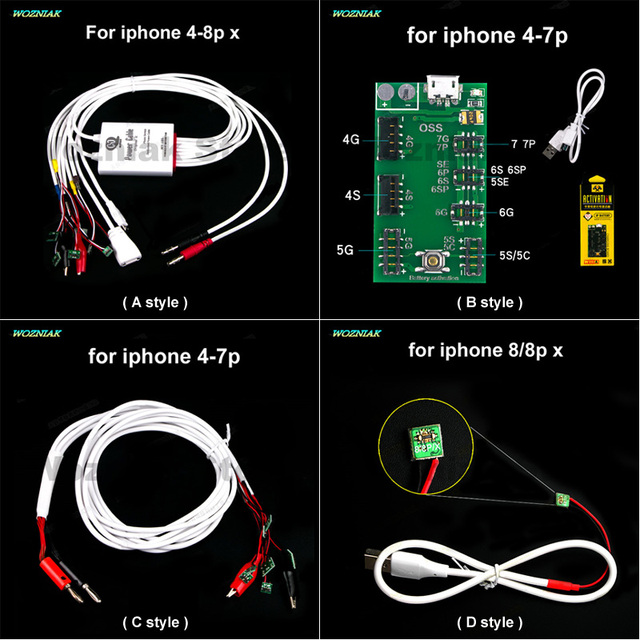 Wozniak Power Supply Test Cable Battery Charging Open Power Repair Line for Iphone 5 5s 6 6p 7 7p 8 plus 8p x Maintenance Wire