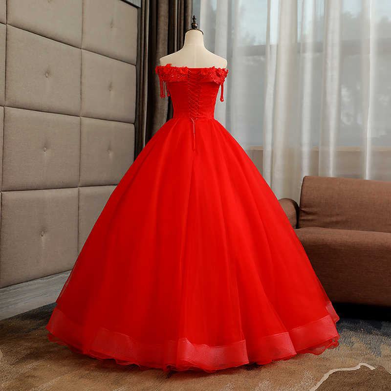 2c6bfe88a ... Vestidos De 15 Anos 2018 New Mrs Win Luxury Quinceanera Dresses Elegant  Boat Neck Lace Embroidery