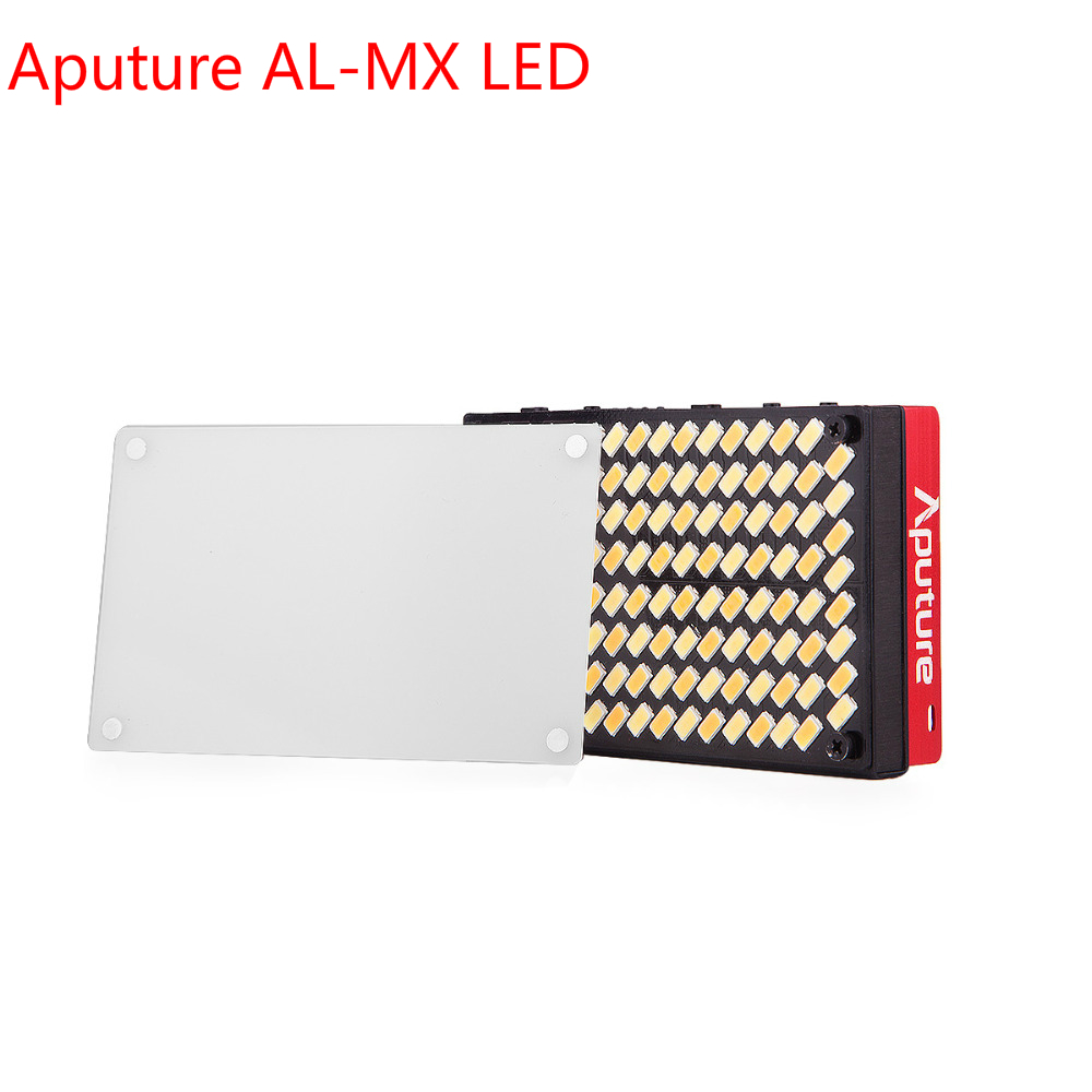Aputure AL-MX LED Video Color Temperature 2800-6500k TLCI/CRI 95+ Camera Fill Light Pocket LED Lighting Photography for Youtube aputure ls c300d cri 95 tlci 96 48000 lux 0 5m color temperature 5500k for filmmakers 2 4g remote aputure light dome mini