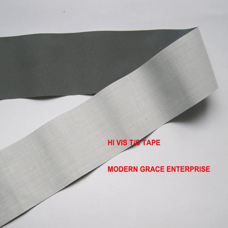 DIY 5 CM x 3 metros de alta visibilidad grado coser en cinta reflectante tela reflectante cosido en bolsas de ropa para de Seguridad de visibilidad uso