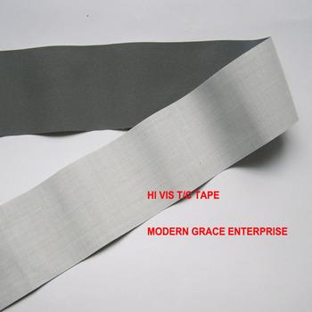 DIY 5CM x 3Meter wysoka widoczność klasa przyszyć taśma odblaskowa tkanina odblaskowa przyszyta na torby na ubrania dla widoczności bezpieczeństwo użytkowania tanie i dobre opinie Paski odblaskowe NONE silver gray reflective fabric