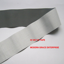 DIY,5CMx3 Meter,Hi visibility grade reflective sewn tape,polyester backing,Gray color,free shipping