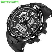 SANDA 2017 Mens Watches Top Brand Luxury Famous Quartz Watch Men Clock Male Wristwatch Digital Sport Watch Relogio Masculino