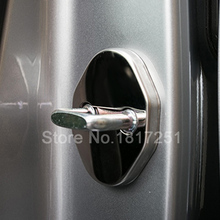 NEW 3D Stainless Steel Door Lock Buckle Protection Protective Cover trim for Mazda cx-3 cx3 car Accessories