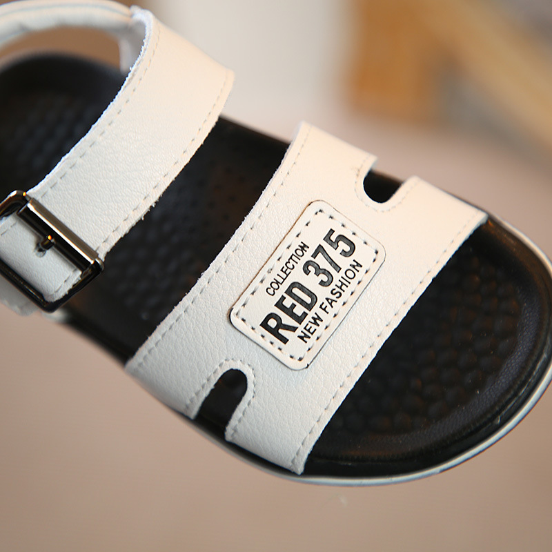 1-3T Summer Kid Girl Boy Paste label Roman Shoes Baby Moccasins Male Soft Bottom Prewalker Genuine Leather Toddler Beach Sandals