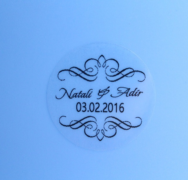 90 Pcs 3cm Personalised Clear Wedding Oniere Envelope Sticker Seals Labels
