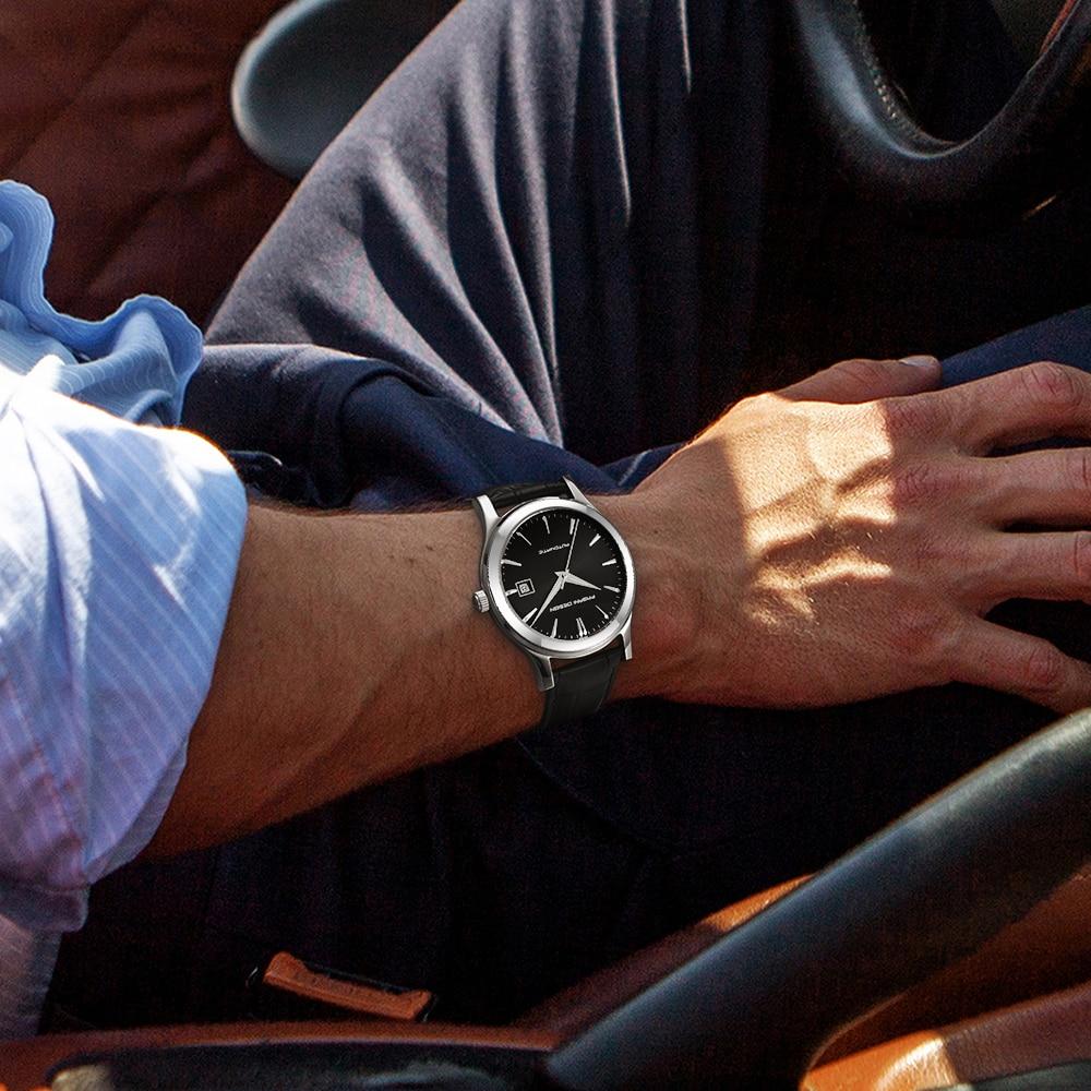 HTB1psMWKf5TBuNjSspcq6znGFXa7 2019 new Ultra-thin simple classic men mechanical watches business waterproof watch luxury brand genuine leather automatic watch