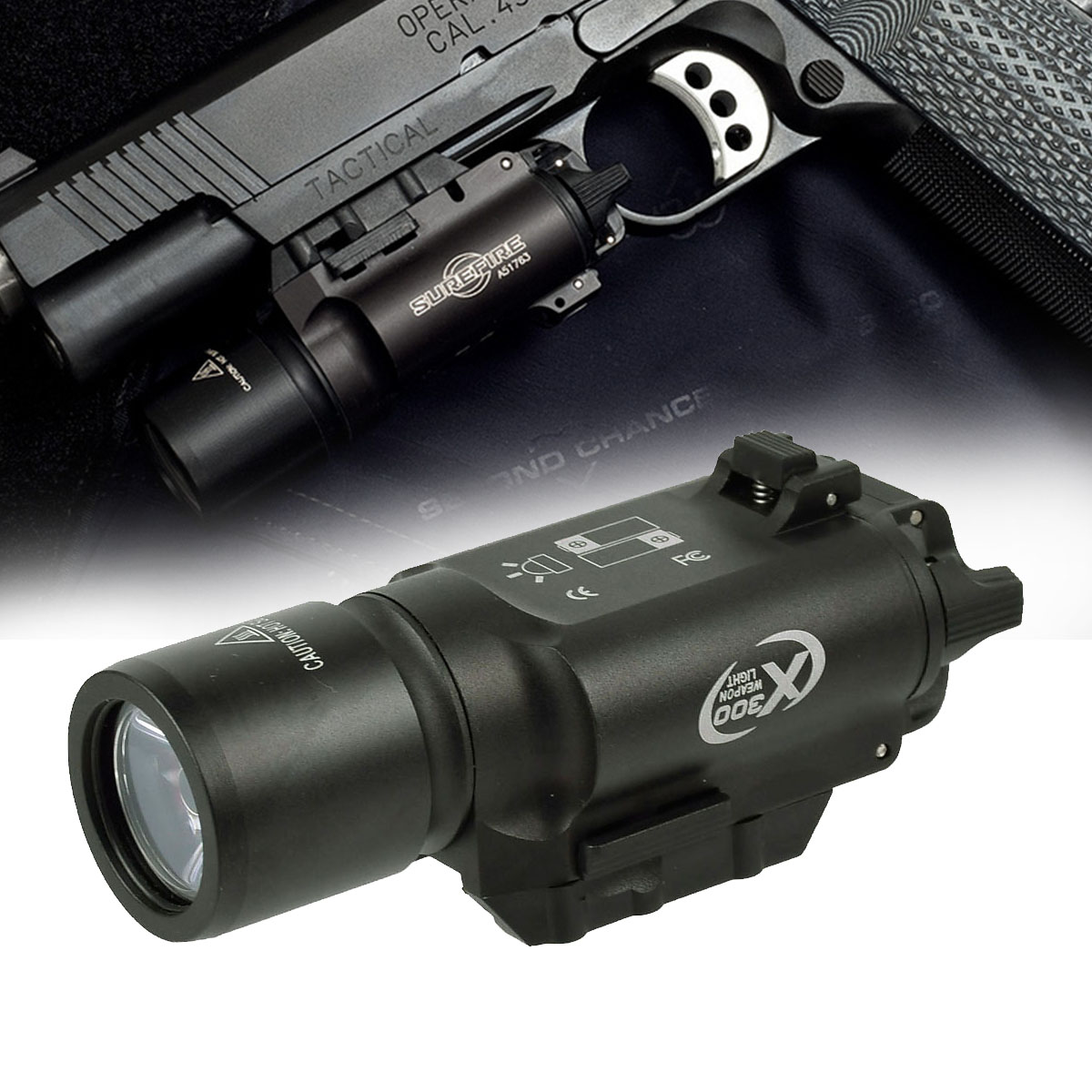 500 Lumens High Output Tactical X300 Pistol Gun Light Weapon Light Lanterna Airsoft Flashlight Fit 20mm Picatinny Weaver Rail