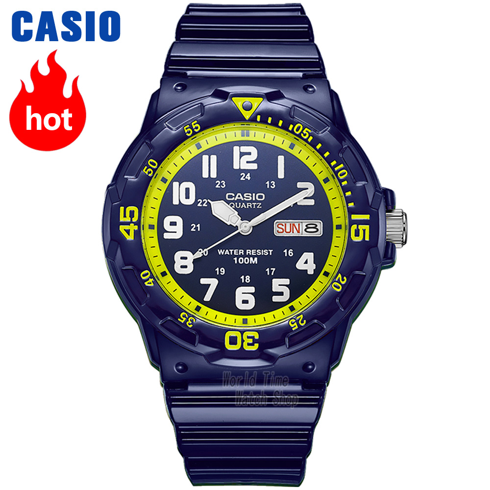 Casio watch Analogue Men's quartz sports watch Week and date double display student watch MRW-200 подарочный набор duo synchro 50 мл nuclea 30 мл gernetic наборы