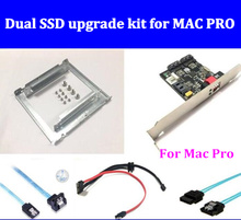 Dual SSD upgrade RAID kit for MACPRO 1.1-5.1 inclued (dual ssd tray/ sata cable/ HW RAID card /SATA3.0 Hard Disk Data Cable) все цены