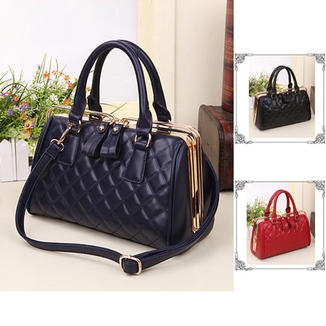 279b9df9ba US $36.7 |Special Design Casual Women Briefcases Metal Frame Tote Bag with  Clip Closer Quilted Purses and Handbags-in Top-Handle Bags from Luggage &  ...