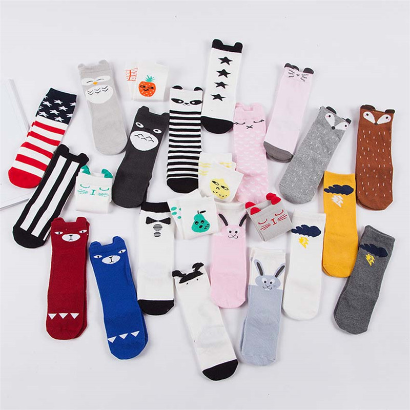 Socks Cotton Baby Girl Socks Newborn Candy Male Girl Children Socks Socks Cute Original Three-dimensional Puppet Bear Baby Bunny