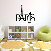 Free Shiping Paris English Carved Sitting Room The Bedroom Decorates A Wall Stickers