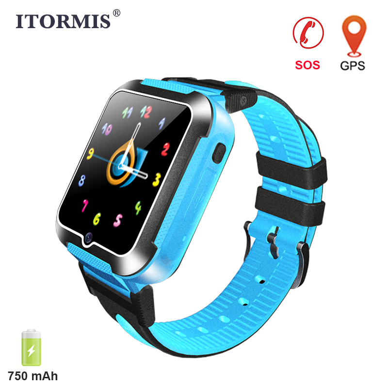 купить ITORMIS Kids GPS Watch Smart Baby Phone Watch Battery 750mAh for Children support SIM Card SOS Location PK Q50 Q90 Android IOS недорого