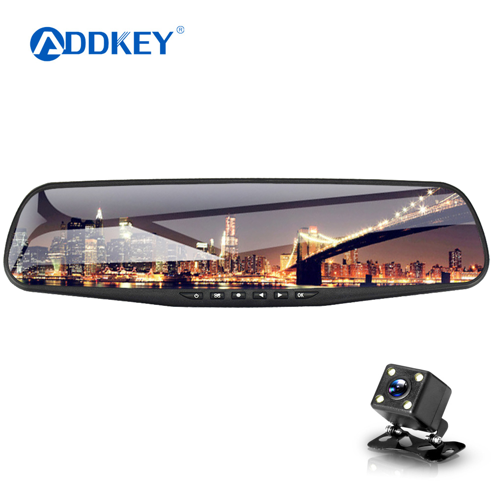 car dvr dash camera dual cameras mirror car video surveillance dashcam full hd dash cam mirror