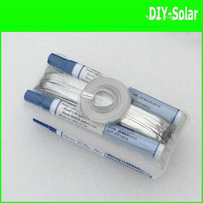 Prix pour Diy panneau solaire 100 m tabulation fil + 10 m fil de barres + 4 pcs flux stylos d'interconnexion onglets à souder fil
