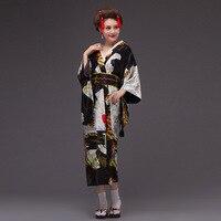 Japanese kimono yukata kimono women 2019 women long sleeve V neck haori traditional kimonos with obi