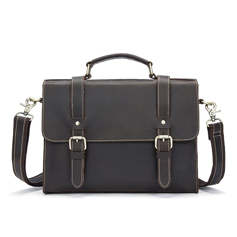 Genuine Leather Men's Bag Bolos Hombre Business Men Leather Handbag Briefcae Laptop Computer Bag Bolso Ordenador круг алмазный hammer 206 155 db tb proff