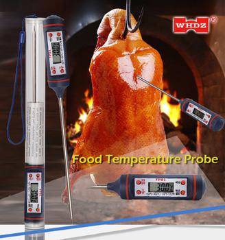 WHDZ TP01 elektroniczny cyfrowy czujnik temperatury żywności instrumenty termometry hydrometr mięso mleko grill kuchnia gotowanie czujnik tanie i dobre opinie 120 ° C i Powyżej DIGITAL Other Przycisk Baterii Osadzone 1 9 Cali i Pod